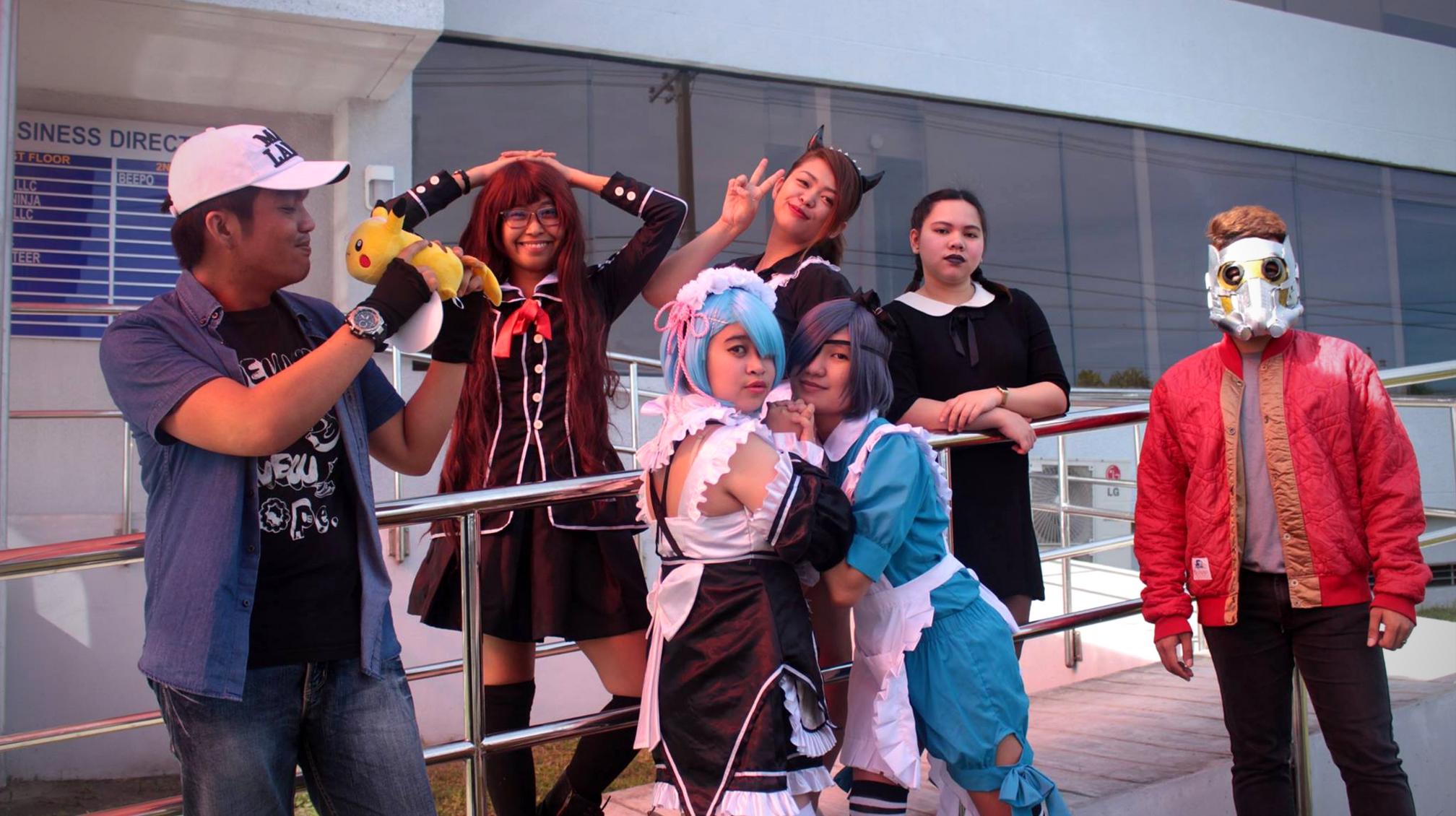 Photo of Beepo employees on their cosplay costume.