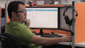 A photo of a Digital Marketing Specialist working.